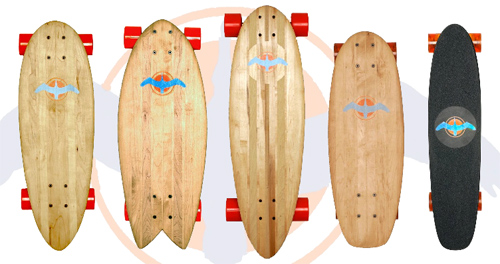 Recycelte Skateboards von Glide Skateboards